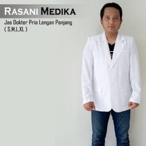 Jas Dokter Pria Lengan Panjang (snelli)
