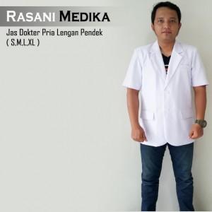 Jas Dokter Pria Lengan Pendek (snelli)