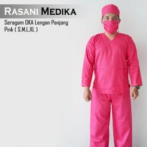 Baju Kamar Operasi Panjang (Baju OK) Pink