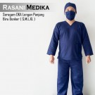 Baju Kamar Operasi Panjang (Baju OK) Biru Dongker