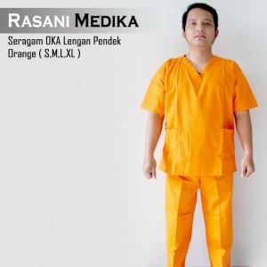 Baju Kamar Operasi Pendek (Baju OK) Orange