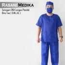 Baju Kamar Operasi Pendek (Baju OK) Biru Tua