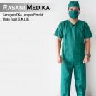 Baju Kamar Operasi Pendek (Baju OK) Hijau tua