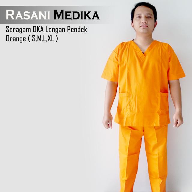Seragam OKA Lengan Pendek Orange