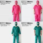 Baju Kamar Operasi Panjang (Baju OK) Hijau tua