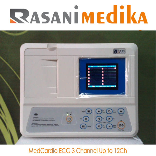 MedCardio ECG 3 Channel Up to 12Ch