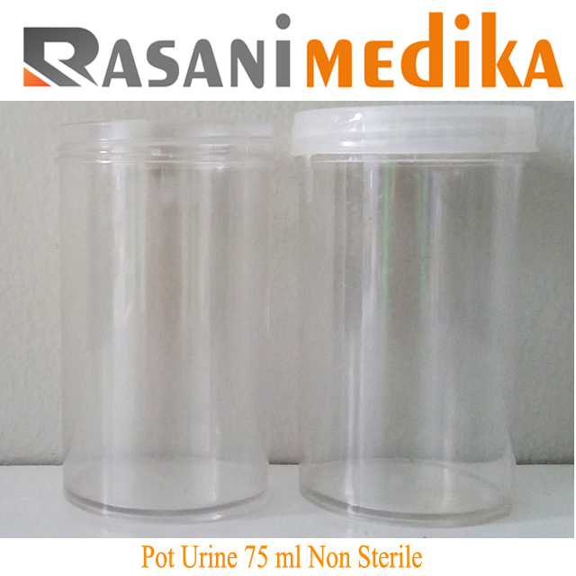 Pot Urine 75 ml Non Sterile