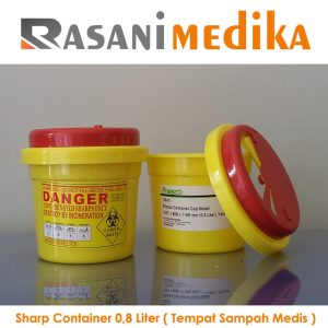 Sharp Container 0,8 Liter ( Tempat Sampah Medis )