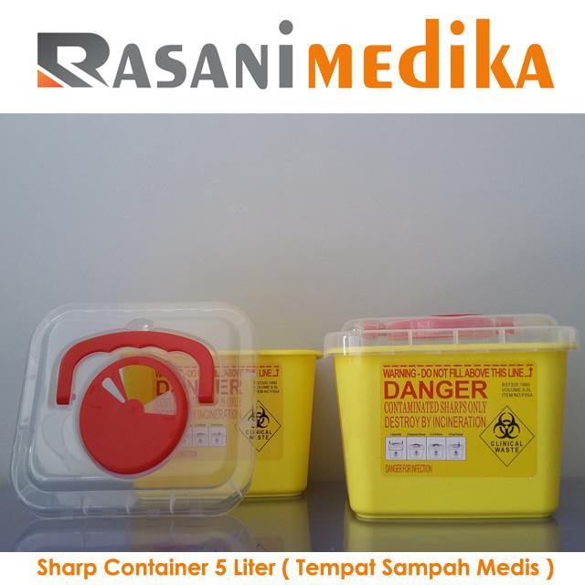Sharp Container 5 Liter ( Tempat Sampah Medis )