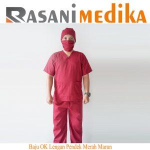Baju OK Lengan Pendek Merah Marun