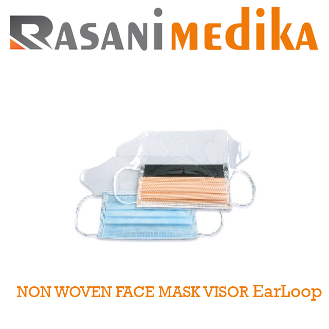 NON WOVEN FACE MASK VISOR EarLoop