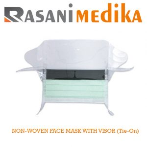 NON-WOVEN FACE MASK WITH VISOR (Tie-On)