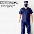 Baju Kamar Operasi Pendek (Baju OK) biru dongker